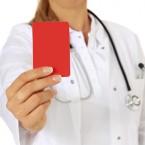 Erro Médico cartão vermelho